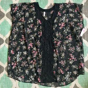 Xhilaration Floral Swimsuit Cover-Up Sz XL/XXL